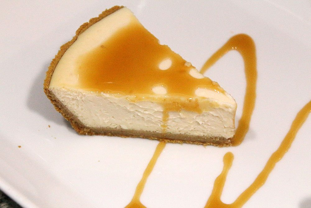 Light Caramel and Vanilla Cheesecake