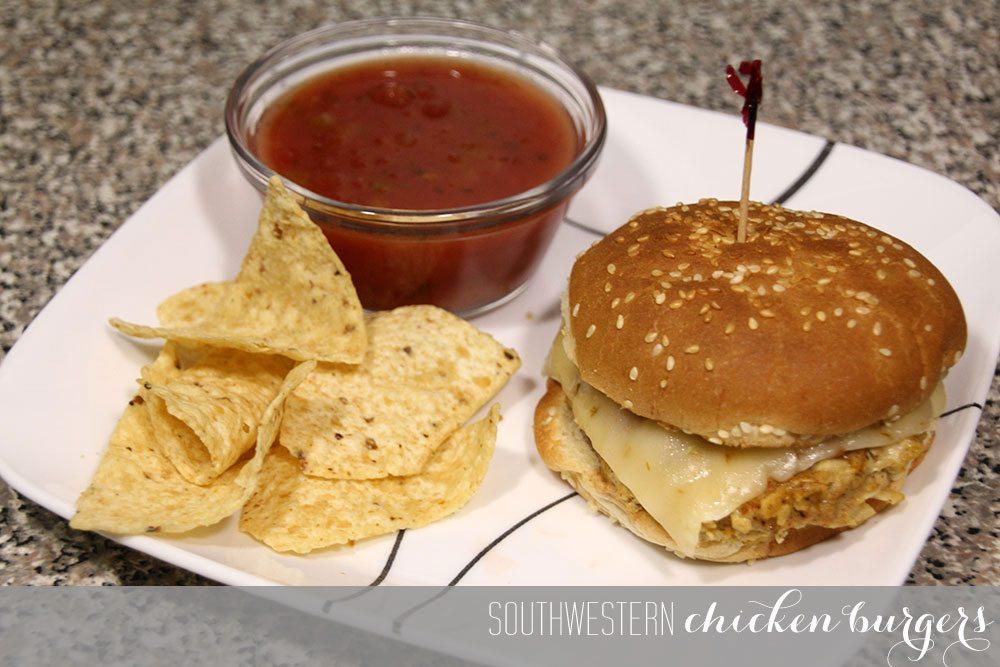 Southwestern Chicken Burgers