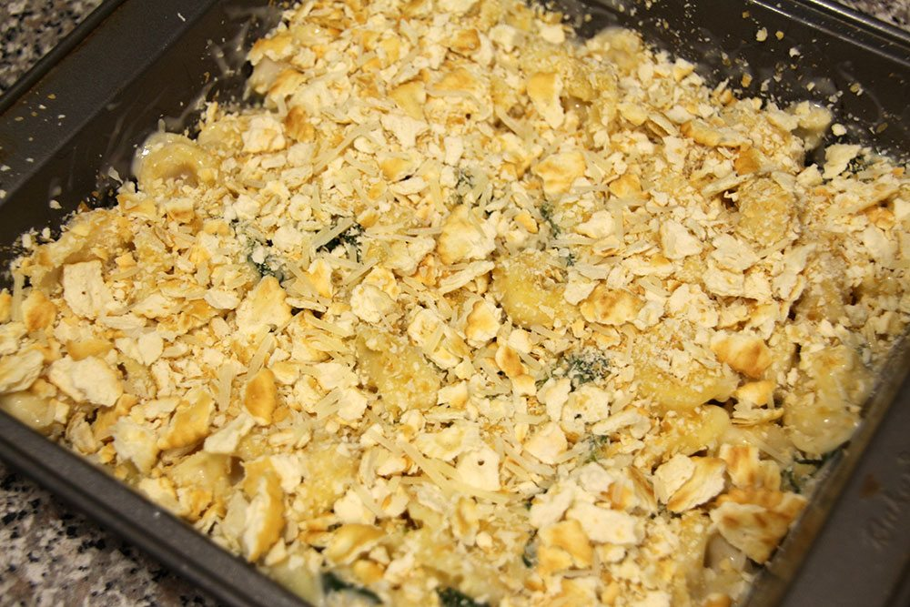 Spinach and Tortellini Alfredo Bake