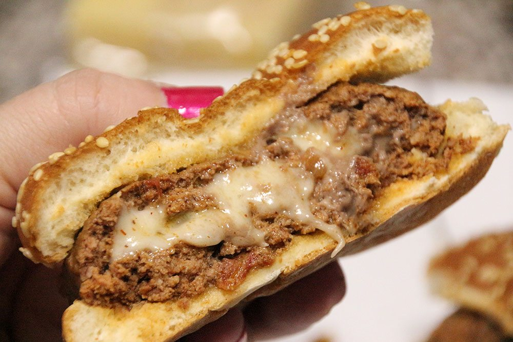 Cheese-Stuffed Salsa Burgers