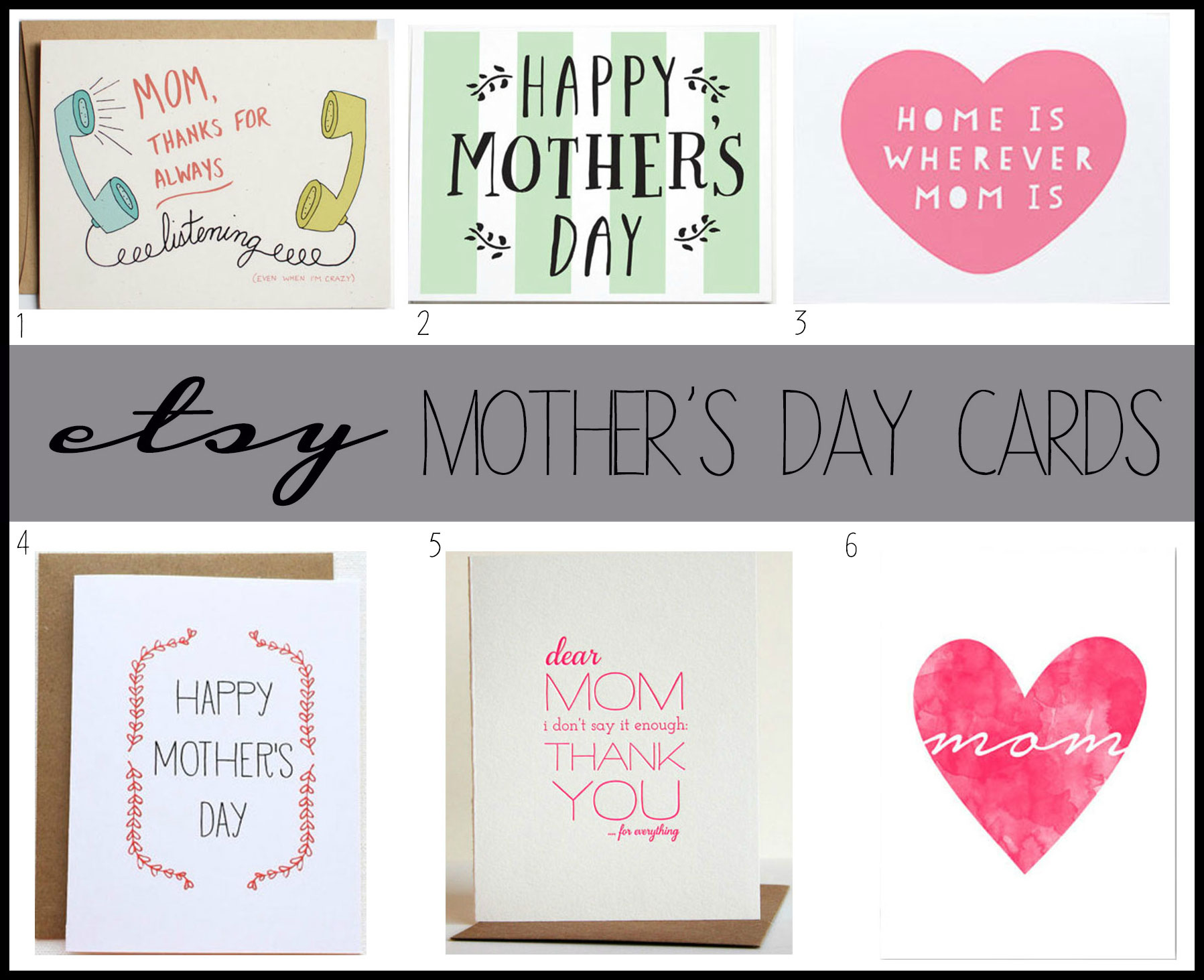 Etsy Mother's Day Cards