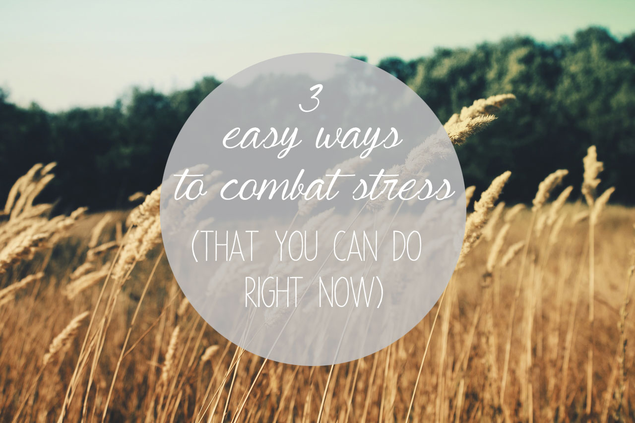 3 Easy Ways to Combat Stress