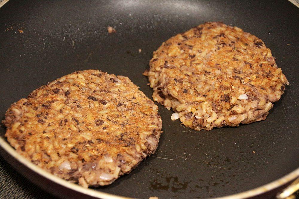 Vegetarian Black Bean and Rice Burgers