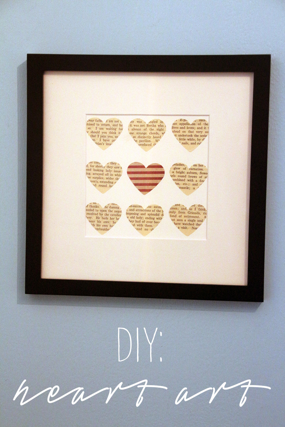 DIY Heart Art