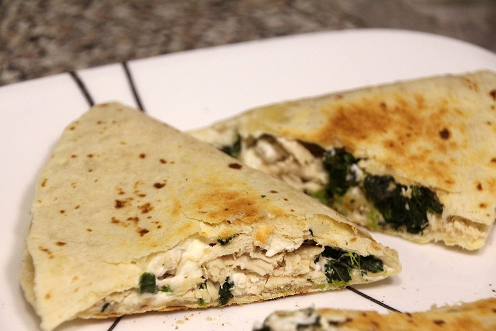 Spinach and Feta Chicken Quesadillas | Rainstorms and Love ...