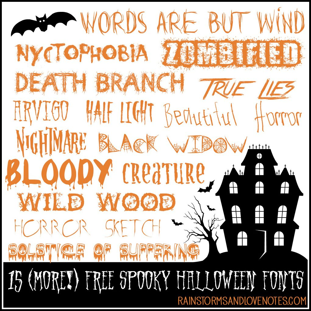 15 (More!) Free Halloween Fonts | Rainstorms and Love Notes