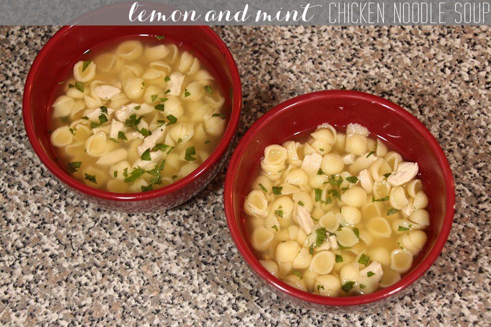 Lemon and Mint Chicken Noodle Soup